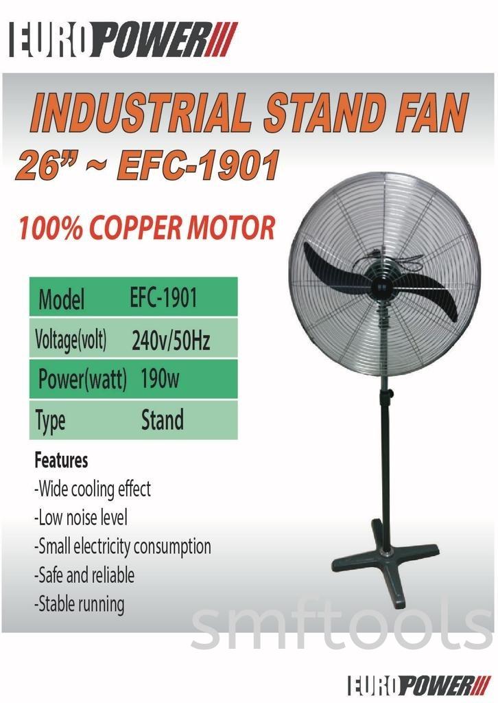 """EuroPower 26"""" Industrial Stand Fan EFC-1901 Motor Set"""