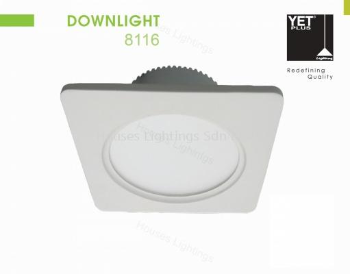 YET 8116 12W WH SQ LED