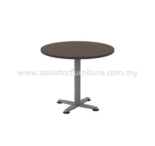 QAMAR ROUND DISCUSSION OFFICE TABLE METAL BASE AQR 90