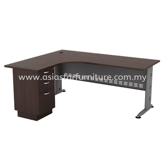 QAMAR L-SHAPE OFFICE TABLE /DESK FIXED PEDESTAL 3D AQL 1515-3D(L) - Top 10 Best Office Funiture Supplier KL-Selangor-Malaysia | Top 10 Best Recommended office table office furniture supplier in KL-PJ-Damansara-Selangor-Malaysia