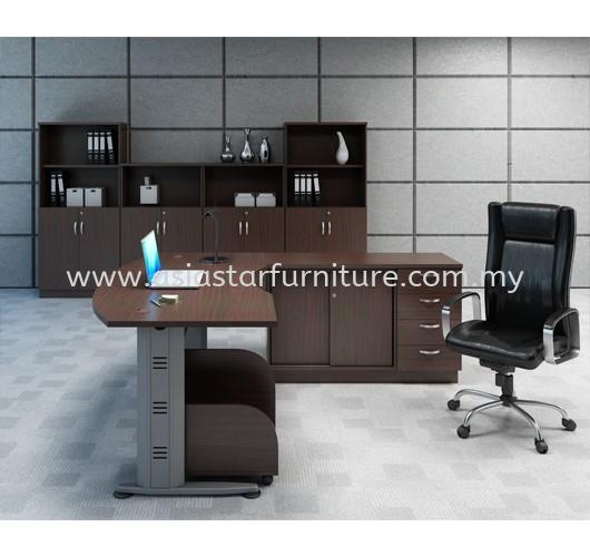 QAMAR EXECUTIVE OFFICE TABLE/DESK C/W CABINET SET AQMB 55 - executive office table Dataran Prima | executive office table Tropicana | executive office table Bandar Utama