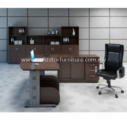 EXECUTIVE TABLE C/W CABINET SET QMB 55