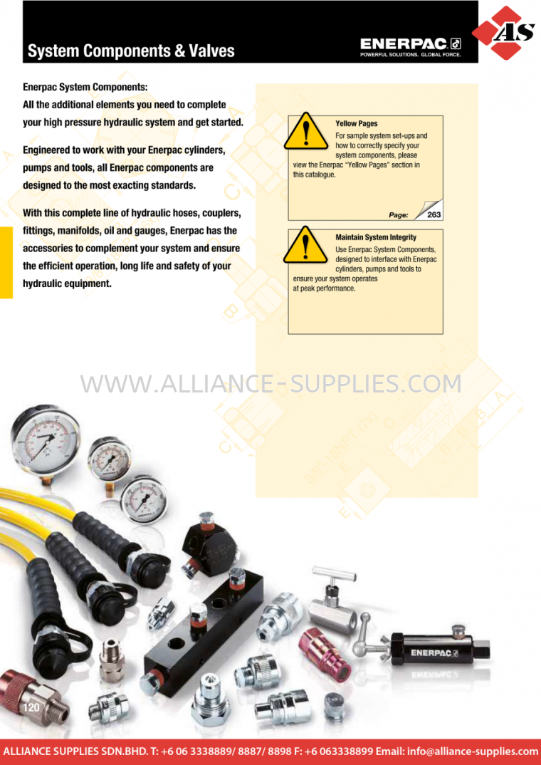 24.04.1 Introduction & Overview 24.04 ENERPAC System Components & Control Valves 24.HYDRAULIC BOLTING TOOLS/ TORQUE/ TENSION PRODUCTS