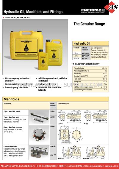 24.04.4 HF-Series, Hydraulic Oil, A, AM-Series, Manifolds