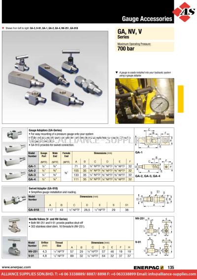 24.04.11 GA, NV, V-Series, Gauge Accessories