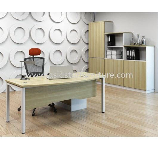 MUPHI EXECUTIVE OFFICE TABLE & SIDE CABINET ASWB 180A-SET - office table/desk Kepong | office table/desk Segambut | office table/desk Desa Park City