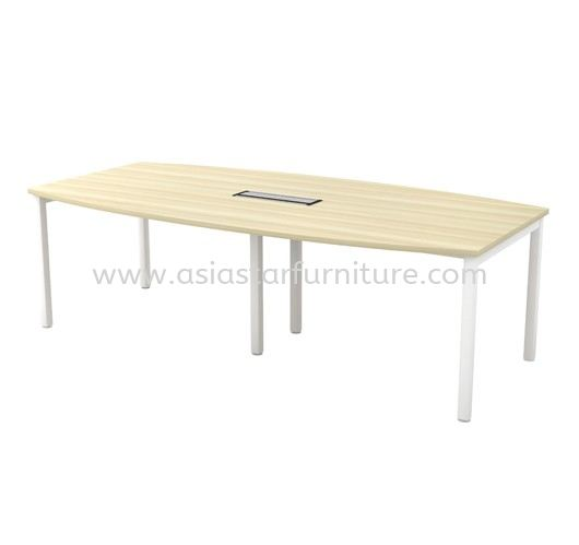 MUPHI BOAT SHAPE MEETING OFFICE TABLE ASBB24 (C/W FLIPPER COVER)