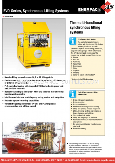 24.09.4 EVO-Series, Standard Synchronous Lifting Systems
