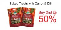 [Buy 2nd @ 50%] Oxbow Baked Treats with Carrot & Dill (3oz) - Expiry Date 02/20 Promotions