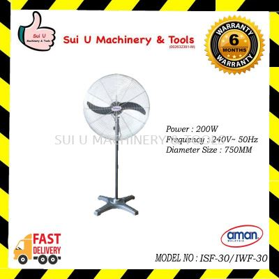 "Aman 30"" Industrial Stand Fan"