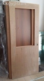 Plywood Half Glass Door