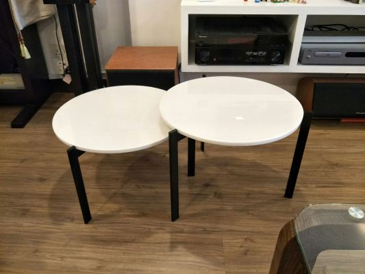 Modern White Marble Coffee Table