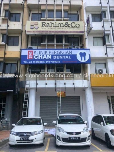Kilink Pergigian Chan Dental Acrylic 3D box up light box signboard design at banda baru klang
