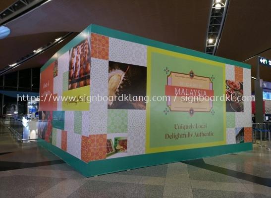 Delicacies of Malaysia kiosk Mall Hording Board at KLIA sepang Kuala Lumpur