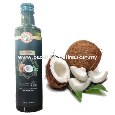 頂級黑標冷壓椰子油 500毫升 COCOMED PREMIUM VIRGIN COCONUT OIL 500ml