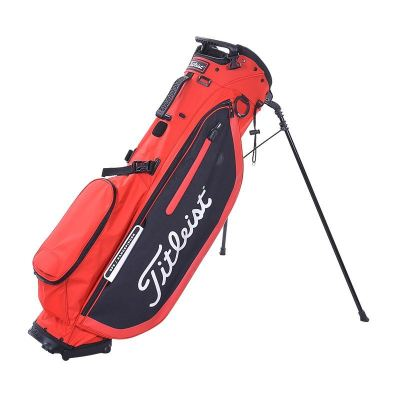 PLAYERS 4 STAND BAG RED BLACK