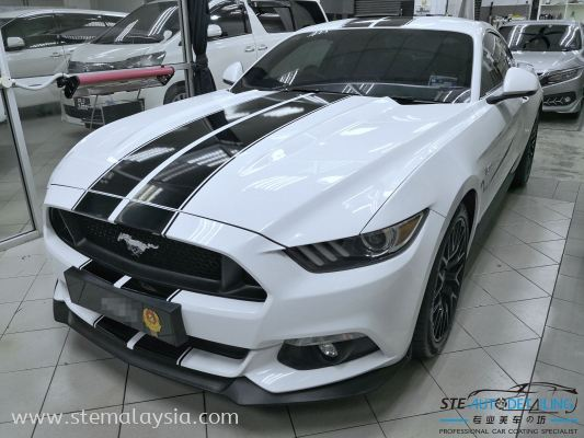 This Ford Mustang GT V8 5.0 ready to hit the streets again after being protected with our STE Coating .