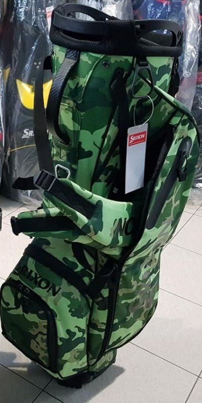 Srixon BRIGHT GREEN CAMOUFLAGE Limited Release Stand Bag 2019