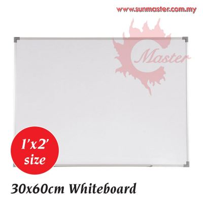 1' x 2' Single Magnetic White Board with Aluminium Frame