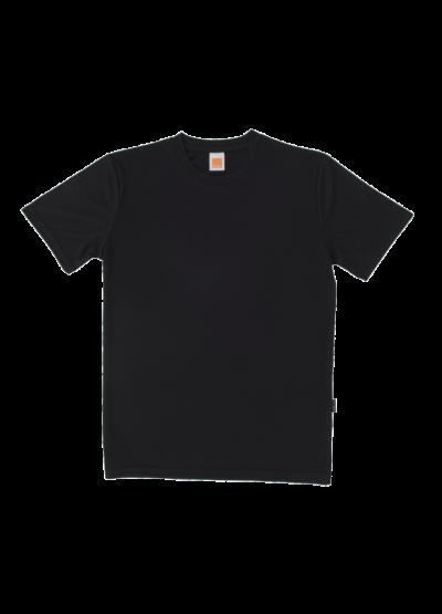 QD5602 Black Oren Sport Quick Dry Round Neck Short Sleeve Plai Tee