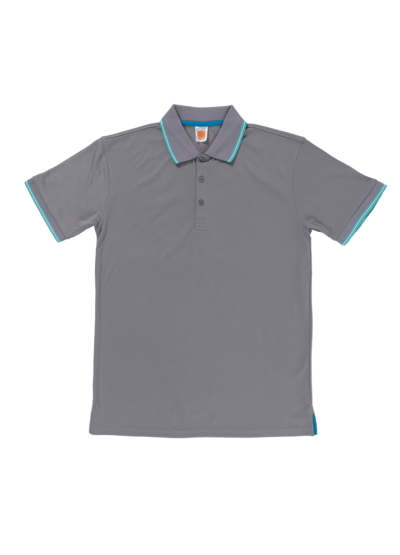 QD5360 Grey Oren Sport Quick Dry Collar Short Sleeve