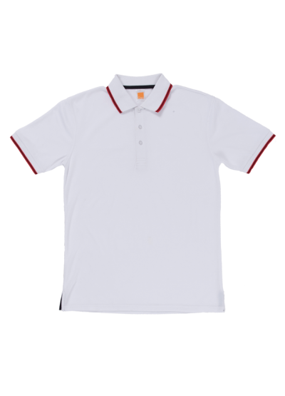 QD5300 White Oren Sport Quick Dry Collar Short Sleeve