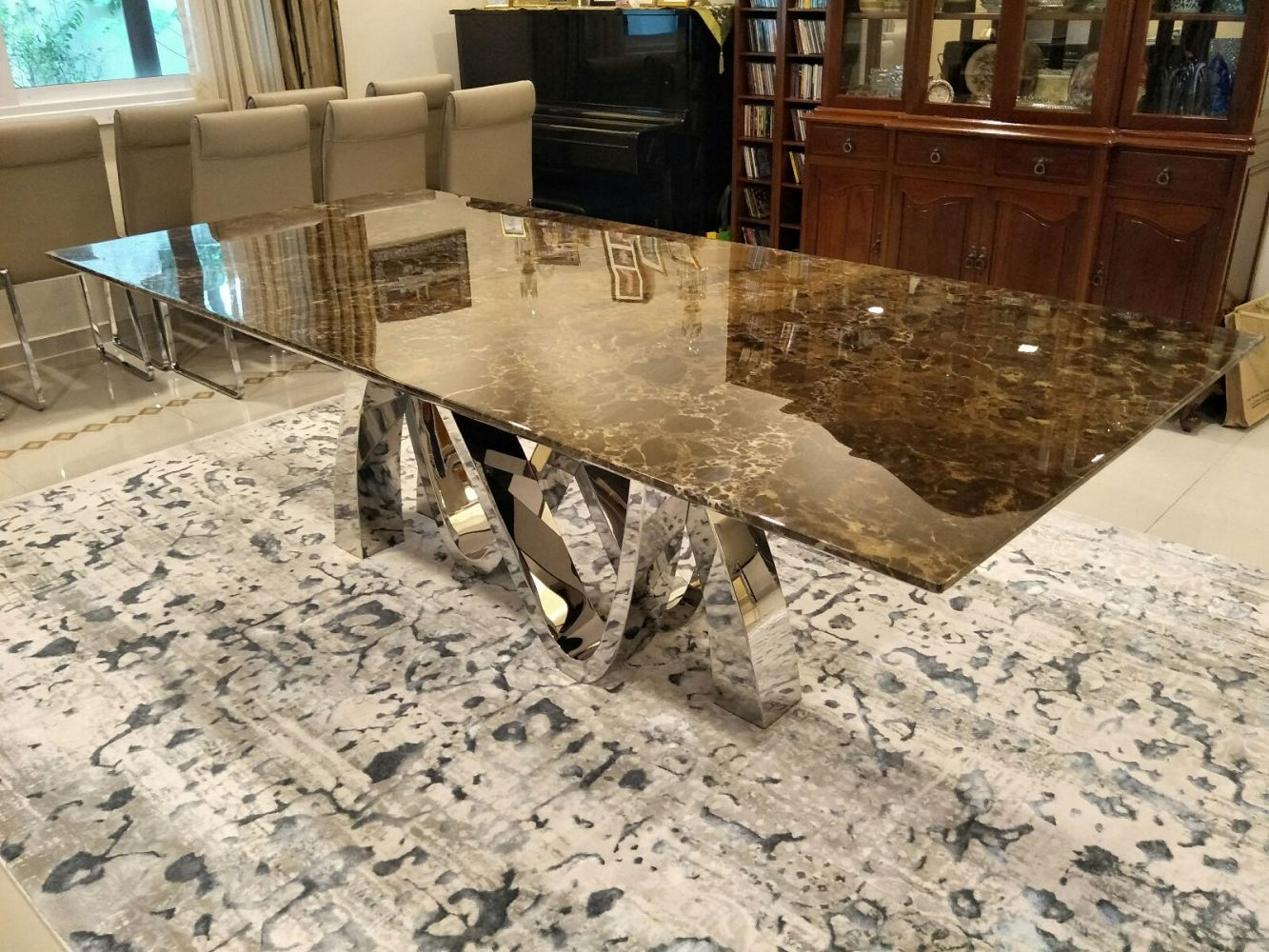 Modern Dining Table For 10 Seater Marble