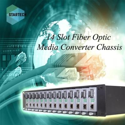 14 Slot Fiber Optic Media Converter Chassis