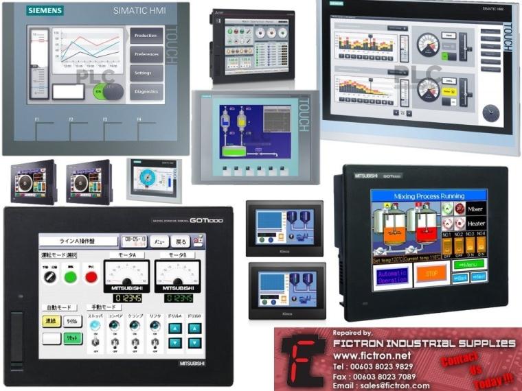HMI Human Machine Interface Touch Repair Service FICTRON Malaysia Singapore Indonesia Batam Thailand