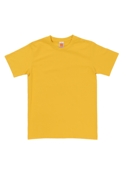 CT6004 Yellow Oren Sport Cotton Round Neck Short Sleeve Plain Tee