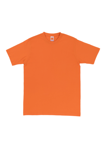 CT6007 Orange Oren Sport Cotton Round Neck Short Sleeve Plain Tee