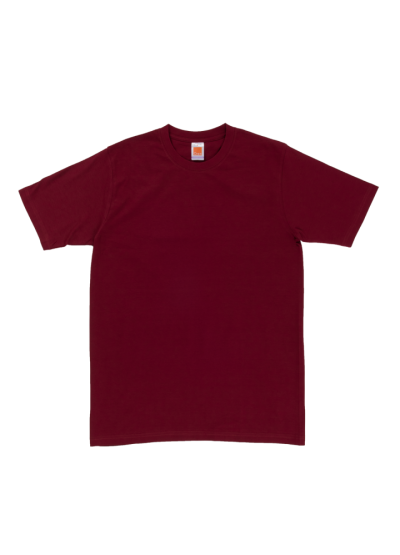 CT6006 Maroon Oren Sport Cotton Round Neck Short Sleeve Plain Tee