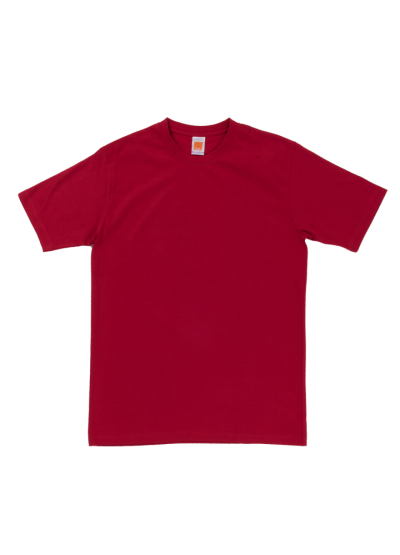 CT6005 Red Oren Sport Cotton Round Neck Short Sleeve Plain Tee