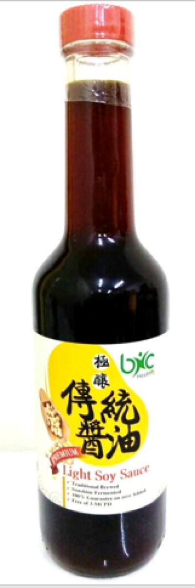 BNC - Premium Light Soy Sauce。 佳營-極釀傳統醬油(315ml)