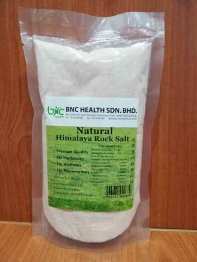 BNC -  NATURAL HIMALAYA ROCK SALT。 天然喜馬拉雅刪鹽(500gm)