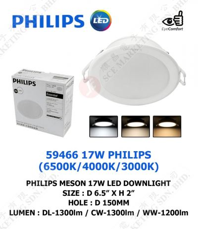 PHILIPS MESON LED DOWNLIGHT 17W 59466