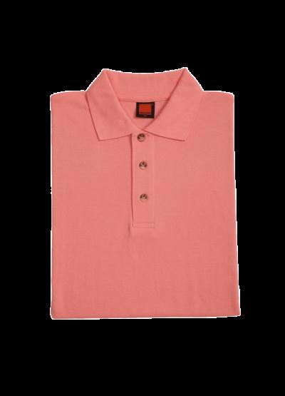 HC0129 Peach Oren Sport Honeycomb Short Sleeve Polo Tee