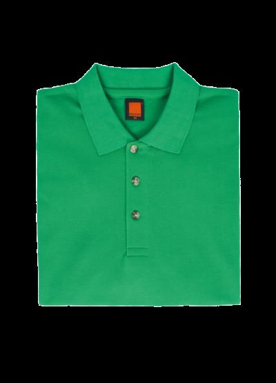 HC0166 Milo Green Oren Sport Honeycomb Short Sleeve Polo Tee