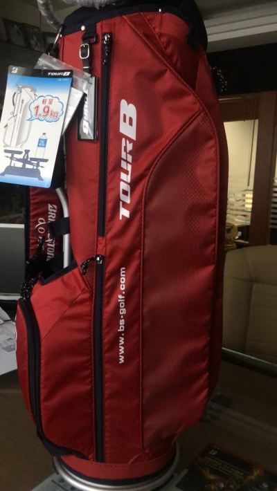 BRIDGESTONE Golf Men's Cart Caddy Bag TOUR B 9.5 x 47 inch 1.9kg CBG921 Red