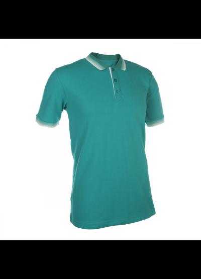 HC1217 Turquoise Oren Sport Honeycomb Short Sleeve Polo Tee