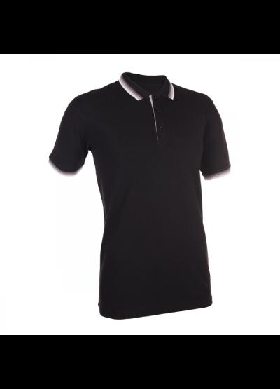 HC1202 Black Oren Sport Honeycomb Short Sleeve Polo Tee