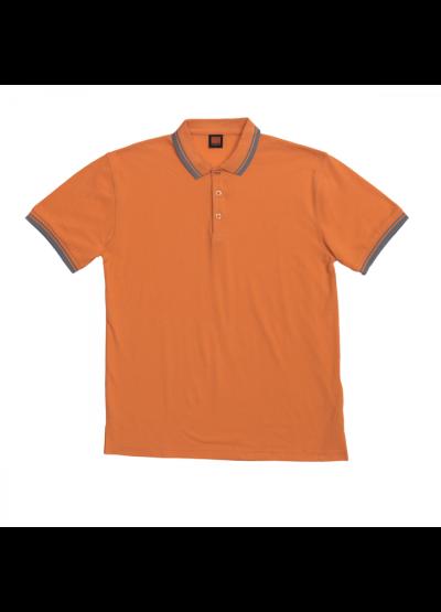 HC1007 Orange Oren Sport Honeycomb Short Sleeve Polo Tee