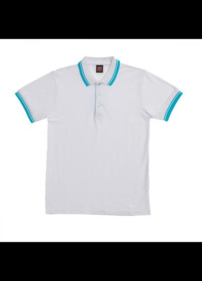 HC1000 White Oren Sport Honeycomb Short Sleeve Polo Tee