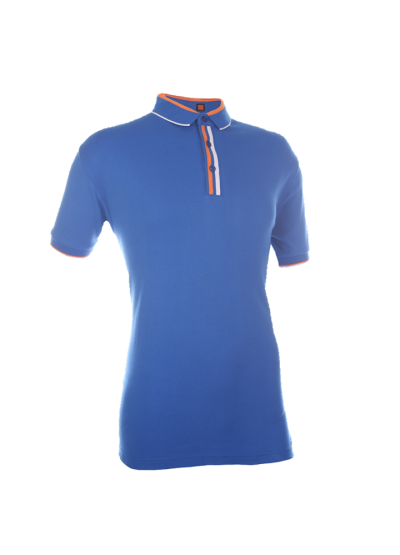 CI1008 Royal Oren Sport Cotton Interlock Short Sleeve Polo Tee