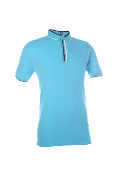 CI1028 Sea Blue Oren Sport Cotton Interlock Short Sleeve Polo Tee