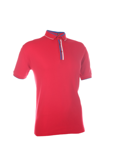 CI1005 Red Oren Sport Cotton Interlock Short Sleeve Polo Tee