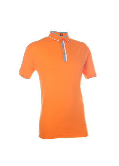 CI1007 Orange Oren Sport Cotton Interlock Short Sleeve Polo Tee