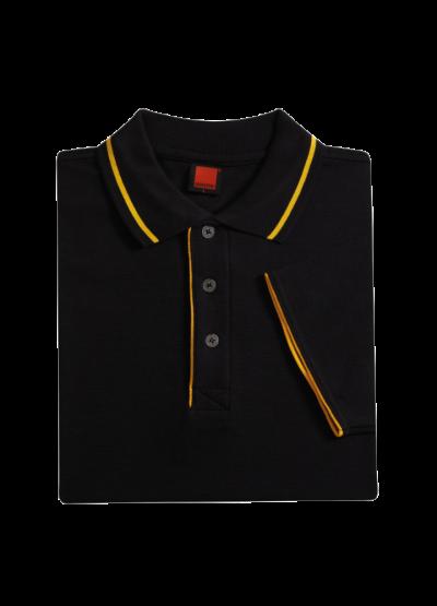 HZ0102 Black Oren Sport Horizon Short Sleeve Polo Tee