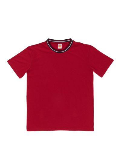 SJ0605 Red Oren Sport Single Jersey Short Sleeve Round Neck Tee