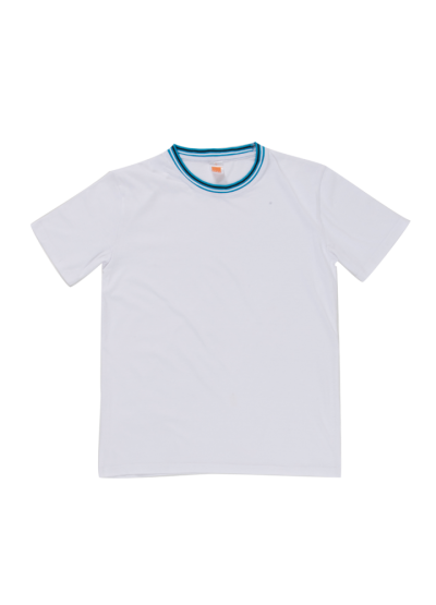 SJ0600 White Oren Sport Single Jersey Short Sleeve Round Neck Tee